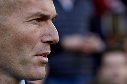 January 27, 2018 - Valencia, Valencia, Spain - Zinedine Zidane head coach of Real Madrid CF looks on prior to the La Liga game between Valencia CF and Real Madrid CF at Mestalla on January 27, 2018 in Valencia, Spain  (Credit Image: © David Aliaga/NurPhoto via ZUMA Press)