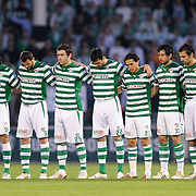 Bursaspor's players (Left to Right) Volkan SEN, Ali TANDOGAN, Ibrahim OZTURK, Huseyin CIMSIR, Ivan ERGIC, Turgay BAHADIR, Mustafa KECELI, Ozan IPEK, Omer ERDOGAN, Pablo Martin BATALLA, Dimitar IVANKOV during their Turkish soccer super league match Bursaspor between Kayserispor at Ataturk Stadium in Bursa Turkey on Saturday, 01 May 2010. Photo by TURKPIX during their Turkish soccer super league match Bursaspor between Kayserispor at Ataturk Stadium in Bursa Turkey on Saturday, 01 May 2010. Photo by TURKPIX