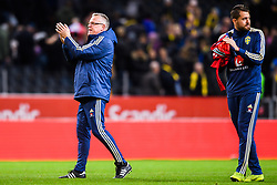 November 20, 2018 - Stockholm, Sweden - 181120 Head coach Janne Andersson of Sweden celebrates after the Nations League football match between Sweden and Russia on November 20, 2018 in Stockholm..Photo: Petter Arvidson / BILDBYRN / kod PA / 87811 (Credit Image: © Petter Arvidson/Bildbyran via ZUMA Press)