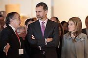 Princess Letizia Ortiz and Felipe de Borbon in the Opening of ARCO Art Fair in Madrid attends explanations