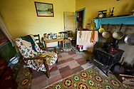 Original interior of an isle of Lewis White house which replaced the Black hosuses on the Island, Scotland