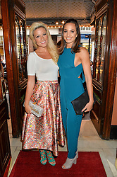 Left to right, singers NATALIE COYLE and LAURA WRIGHT at a Gala Performance of Impossible at the Noël Coward Theatre, 85-88 Saint Martin's Lane, London on 13th July 2016.