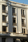 Architectural detail with balconies in Casablanca, Morocco