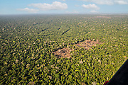 Aerial view of the Brazilian rainforest