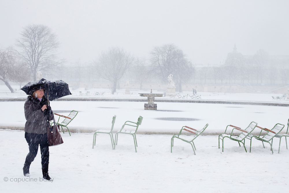 Paris, France. December 17th 2009..Jardin des Tuileries (1st Arrondissement)