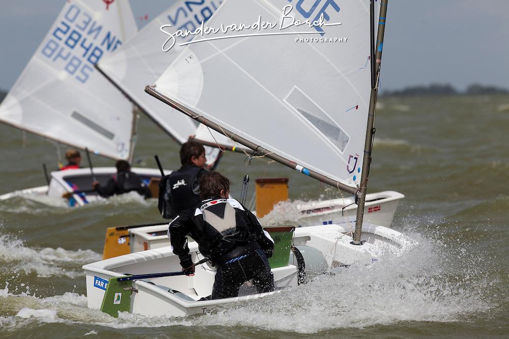 OCN-CLINIC, Workum (20-23 May). Optimist Clinic for dutch optimist sailors with Gonzalo Pollitzer (Bocha) en Manuel Resano (Manny) organized by the Optimist Club Nederland (OCN)  © Sander van der Borch.