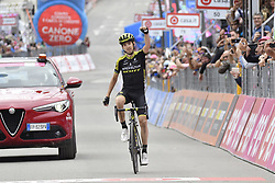 May 26, 2018 - Cervinia, ITALY - Spanish Mikel Nieve of Mitchelton - Scott celebrates after winning stage 20 of the 101st edition of the Giro D'Italia cycling tour, 214km from Susa to Cervinia, Italy, Saturday 26 May 2018...BELGA PHOTO YUZURU SUNADA FRANCE OUT (Credit Image: © Yuzuru Sunada/Belga via ZUMA Press)