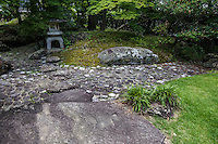 Takenomaru Garden is made up of stones and a mound. just below    Kakegawa Castle.  The castle itself was built by Asahina Yasuhiro but later the castle fell into the hands of Yamauchi Kazutoyo, a vassal of Hideyoshi Toyotomi.  Kakegawa had grown to be a wealthy castle town during the Edo Period thanks to its location on the mainline Tokaido Road between Kyoto.  Today Kakegawa Castle sits in parkland and is a pleasant, historic spot to visit in Shizuoka Prefecture.