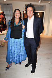 SIMON BURSTEIN and LYNNE FRANKS at a dinner hosted by Harper's Bazaar to celebrate Browns 40th Anniversary in aid of Women International held at The Regent Penthouses & Lofts, 16-18 Marshall Street, London on 20th May 2010.