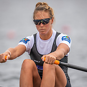 Emma Twigg , New Zealand elite Womens Single Scull<br /> <br /> Racing the Semi-Finals at FISA World Rowing Cup III on Saturday 13 July 2019 at the Willem Alexander Baan,  Zevenhuizen, Rotterdam, Netherlands. © Copyright photo Steve McArthur / www.photosport.nz