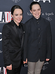 (L-R) Ellen Page and Emma Portner arrives at the L.A. Dance Project's Annual Gala held at LA Dance Project in Los Angeles, CA on Saturday, October 7, 2017. (Photo By Sthanlee B. Mirador/Sipa USA)