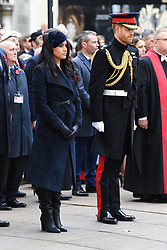 The Duke and Duchess of Sussex arriving at The Opening of The Field of Remembrance, Westminster Abbey, London . Photo credit should read: Doug Peters/EMPICS