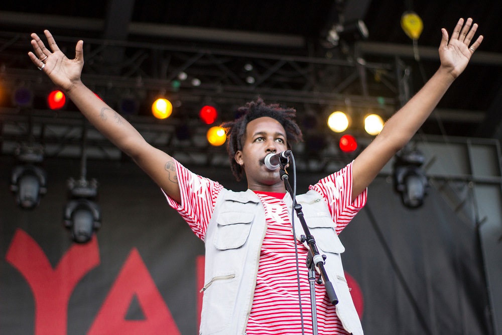 WebsterX performs at Summerfest in Milwaukee, WI on July 4, 2017.
