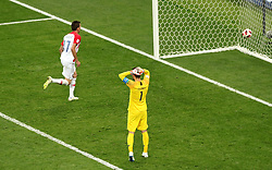 Croatia's Mario Mandzukic runs to collect the ball after scoring his side's second goal of the gameduring the FIFA World Cup Final at the Luzhniki Stadium, Moscow.