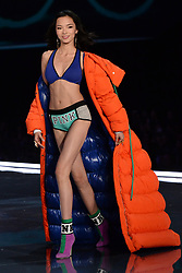 Xian Wen on the catwalk for the Victoria's Secret Fashion Show at the Mercedes-Benz Arena in Shanghai, China