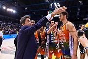 Gianmarco Pozzecco<br /> Happy Casa Brindisi - Banco di Sardegna Dinamo Sassari<br /> Semifinale<br /> LBA Serie A Final 8 Eight Postemobile 2018-2019<br /> Firenze, 16/02/2019<br /> Foto L.Canu / Ciamillo-Castoria