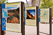Interpretive displays at the Zion Visitor Center, Zion National Park, Utah