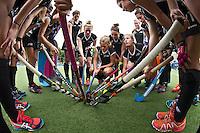 BREDA (Neth.)  Team New Zealand during the match  New Zealand vs England U21 women . Volvo Invitational Tournament U21. COPYRIGHT KOEN SUYK