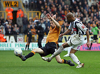 Photo: Rich Eaton.<br /> <br /> Wolverhampton Wanderers v West Bromwich Albion. Coca Cola Championship. Play off Semi Final, 1st Leg. 13/05/2007. West Broms Diomansy Kamara scores in the second half to make it 3-2