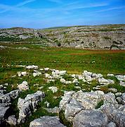 Limestone pavement, near Malham, limestone scenery, Yorkshire Dales national park, England