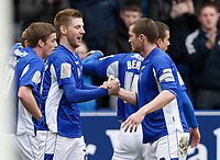 Photo: Steve Bond/Richard Lane Photography. Leicester City v Scunthorpe United. Coca Cola Championship. 13/02/2010. Paul Gallagher (2nd Left) celebrates his first goal