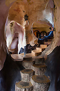 Interiors architecture of The Crazy House, Da Lat, Vietnam, Souhteast Asia