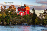 Lighthouse on Lake Superior in  Marquette, Michigan, USA