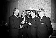 15/2/1966<br /> 2/15/1966<br /> 15 February 1966<br /> <br /> Mr. Tom Moran Chairman National Buy Irish Committee, Mr T.D Spillane Editor Irish Hardware and Allied Trader, Mr George Good President Irish Hardware association and Mr. Morgan Dockenell Asst. Manager Thomas Docknell and Son (Winner of the 2nd Prize)