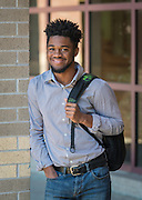 Jordan Johnson poses for a photograph at Chavez HS, February 5, 2016.