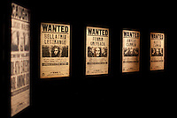 """Wanted posters at the """"Harry Potter"""" exhibition at Discovery Times in New York. ..Photo by Robert Caplin."""