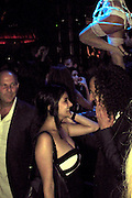 """EXCLUSIVE: Saxophone supremo Kenny G dances closely with a mystery woman - just three months before his wife of 20 years filed for divorce. The long-haired musician appeared very touchy feely with the unidentified lady at a party to celebrate the first anniversary of New York nightclub Lavo, which was held on October 6, 2011. Onlookers also spotted Kenny G, whose full name is Kenneth Gorelick, snapping photos of scantily clad dancers who were performing at the bash. This week it emerged that Kenny G's wife has filed for divorce from the saxophonist, ending their 20-year marriage. Lyndie Benson-Gorelick, who has two sons with the musician, filed papers at Los Angeles Superior Court which cited """"irreconcilable differences"""" as the reason for their split.<br /><br />Pictured: Kenny G<br /><br />Ref: SPL352285  200112   EXCLUSIVE<br />Picture by: CelebrityVibe / Splash News<br /><br />Splash News and Pictures<br />Los Angeles:310-821-2666<br />New York:212-619-2666<br />London:870-934-2666<br />photodesk@splashnews.com"""