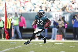 Philadelphia Eagles cornerback Brandon Boykin (22) returns a kick during the NFL game between the Detroit Lions and the Philadelphia Eagles on Sunday, October 14th 2012 in Philadelphia. The Lions won 26-23 in Overtime. (Photo by Brian Garfinkel)
