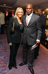 Footballer FRANK SINCLAIR  and NICKY WEALLEANS at a sales event for the exclusive Chelsea Bridge Wharf in aid of CLIC Sargeant cancer charity held at Stamford Bridge football stadium, Chelsea, London on 7th February 2006.<br /><br />NON EXCLUSIVE - WORLD RIGHTS