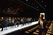 MANHATTAN, NEW YORK, SEPTEMBER 15, 2015 Scenes from day 6 of New York fashion Week, NYFW, at the Badgely Mischka fashion show at The Arc Skylight at Moynihan Post Office in Manhattan, NY. 9/15/2015 Photo by ©Jennifer S. Altman/For The New York Times