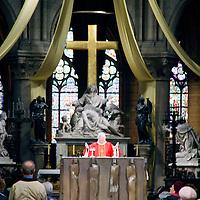 Europe, France, Paris. Notre-Dame Cathedral Service.
