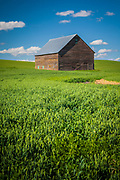 Farm bulding in the Palouse region of eastern Washington state, USA