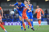 Bradden Inman wins the ball during the EFL Sky Bet League 1 match between Rochdale and Shrewsbury Town at Spotland, Rochdale, England on 9 March 2019.