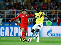 Dele Alli (England) and Davinson Sanchez (Colombia) <br /> Moscow 03-07-2018 Football FIFA World Cup Russia 2018 <br /> Colombia - England / Colombia - Inghilterra<br /> Foto Matteo Ciambelli/Insidefoto