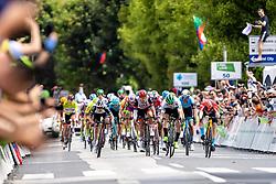 Jon ABERASTURI IZAGA of CAJA RURAL-SEGUROS RGA and Matej MOHORIC of BAHRAIN VICTORIOUS at finish line during 3rd Stage of 27th Tour of Slovenia 2021 cycling race between Brezice and Krsko (165,8 km), on June 11, 2021 in Slovenia. Photo by Matic Klansek Velej / Sportida