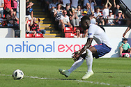 Arvin Appiah of England scores during the UEFA European Under 17 Championship 2018 match between England and Italy at the Banks's Stadium, Walsall, England on 7 May 2018. Picture by Mick Haynes.