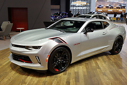 09 February 2017:  Chevrolet Camaro RS<br /> <br /> First staged in 1901, the Chicago Auto Show is the largest auto show in North America and has been held more times than any other auto exposition on the continent.  It has been  presented by the Chicago Automobile Trade Association (CATA) since 1935.  It is held at McCormick Place, Chicago Illinois<br /> #CAS17
