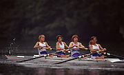 Lucerne, SWITZERLAND  GBR W4-, Bow.  Karen MARWICK, Rachel HIRST, Joanne TURVEY and Phillippa CROSS, 1992 FISA World Cup Regatta, Lucerne. Lake Rotsee.  [Mandatory Credit: Peter Spurrier: Intersport Images]] 1992 Lucerne International Regatta and World Cup, Switzerland