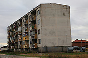 Communist era apartment block housing, Shishmantsi, Plovdiv province, Bulgaria, eastern Europe