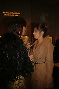 JANET STREET-PORTER AND TRACEY EMIN, Champagne reception celebrating 100 years of Chinese cinema  hosted by Hamish McAlpine of Tartan Films, Raising money for Care For Children, a foster care programme in China. Aspreys. New Bond St. London. 25 April 2006. ONE TIME USE ONLY - DO NOT ARCHIVE  © Copyright Photograph by Dafydd Jones 66 Stockwell Park Rd. London SW9 0DA Tel 020 7733 0108 www.dafjones.com