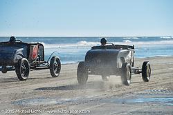 Bryan McCann of Denver, CO in his 1928 Roadster at The Race of Gentlemen. Wildwood, NJ, USA. October 11, 2015.  Photography ©2015 Michael Lichter.