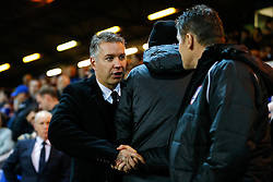 Peterborough United Manager Darren Ferguson greets Bristol City Manager Steve Cotterill before the match - Photo mandatory by-line: Rogan Thomson/JMP - 07966 386802 - 28/11/2014 - SPORT - FOOTBALL - Peterborough, England - ABAX Stadium - Peterborough United v Bristol City - Sky Bet League 1.