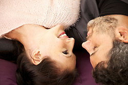 Couple Looking at each other, High angle view