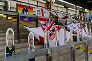 Flags and cut out fans during the EFL Sky Bet League 1 match between Bristol Rovers and Ipswich Town at the Memorial Stadium, Bristol, England on 19 September 2020.