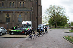 Delphine Brits (NED) of Equano Cycling Team rides to sign-on before the start of the Omloop van Borsele - a 107.1 km road race, starting and finishing in s'-Heerenhoek on April 22, 2017, in Borsele, the Netherlands.
