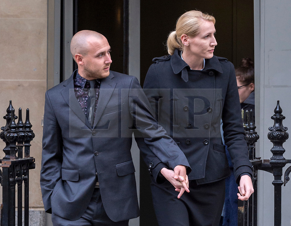 © Licensed to London News Pictures. 08/10/2018. Bristol, UK. Teacher ELLIE WILSON (blonde hair) leaves Bristol Crown Court at the end of the first day of the second week of her trial, accused of having sexual activity with a school pupil. The jury has now retired to consider the verdict. The 29 year old from Dursley in Gloucestershire denies four counts of abuse of position and sexual activity with a child. She was a physics teacher at a Bristol secondary school (which cannot be named for legal reasons) when the alleged offences took place in August 2015. It is alleged that Wilson had sex with the male pupil in the toilet of an aircraft on the return flight from a school trip to southern Africa. When interviewed Wilson said there was a friendship with the boy and admitted she shouldnít have gone as far as she did but there was nothing sexual. Photo credit: Simon Chapman/LNP